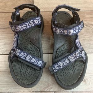 TEVA | Dark Blue w/ Grey Flames | Size 10